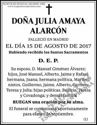 Julia Amaya Alarcón